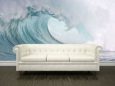 A Wave lounger would make this beach mural pop even more!