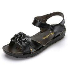 fashion Genuine leather sandals middle-aged non-slip flat comfortable old shoes large size women Soft bottom sandals Old Shoes, Women's Shoes, Latest Shoe Trends, Beach Shoes, Leather Sandals, Fashion Shoes, Peep Toe, Dress Shoes, Footwear