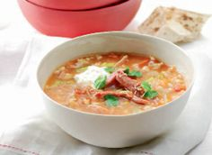 Ham hock and barley soup