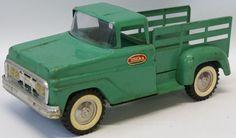 Vintage 1960's Tonka Farm Stepside Stake Delivery Pickup Truck