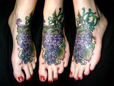Beautiful tattoo, grape tattoo