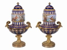 Par de vasos em porcelana Francesa Sevres do sec.19th, 30cm de altura, 11,320 USD / 10,190 EUROS / 42,650 REAIS / 73,720 CHINESE YUAN soulcariocantiques.tictail.com