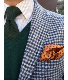 Knitted Tie & Pocket Square : Calabrese 1924 Available at zampadigallina.com