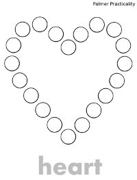 free do a dot printables! Here are a few more shapes for your preschooler to work on. After completing the do a dot shape, your . Valentine Bingo, Valentines Day Activities, Dot To Dot Printables, Dots Free, Do A Dot, Halloween Coloring Pages, Toddler Learning Activities, Shapes, February
