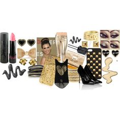 """Metallic!"" by nessa-seme on Polyvore"