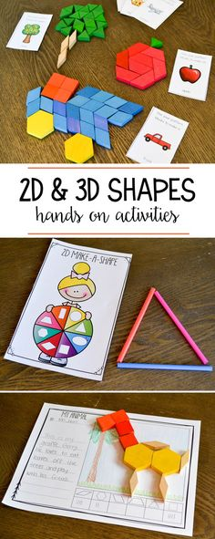 Hands on activities for learning about the properties and attributes of 2D and 3D shapes!