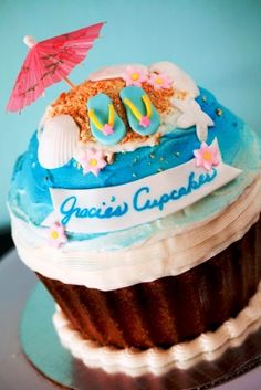Tropical Birthday Cupcake (giant)