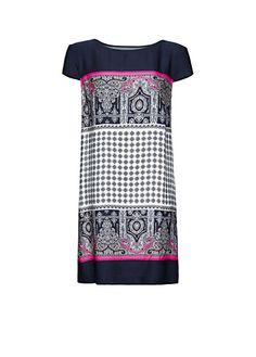 Tie print dress by MANGO