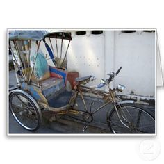 Samlor - These modes of transportation are slowly fading from Thailand. There are however still a few old Thai residents who use them. I once had a race in one...it's a long story! #transport #thailand #chiangmai #samlor #bike #bicycles #taxi #traditional #pedal