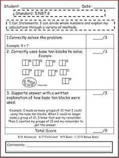 Performance Tasks for Common Core with Rubrics!