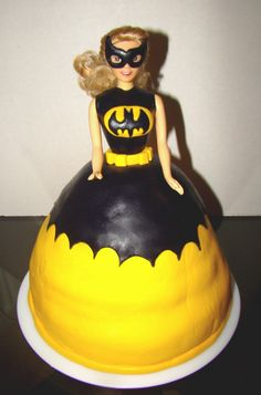 Batgirl Barbie Cake! She will be our little batgirl!!