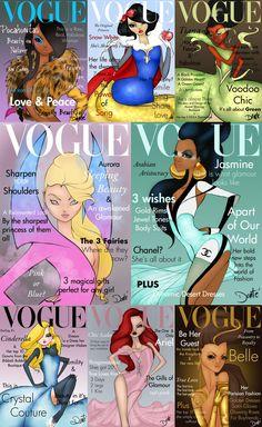 10. Dante Tyler puso a las princesas en la tapa de la famosa revista Vogue.