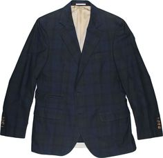 BRUNELLO CUCINELLI MEN'S CHECK PATTERN JACKET-MADE IN ITALY #BrunelloCucinelli #ThreeButton