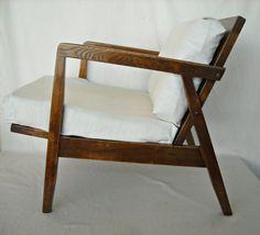 Mid Century Oak Lounge Chair