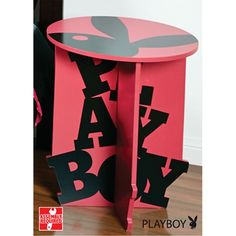 Playboy Bedside Table Pink