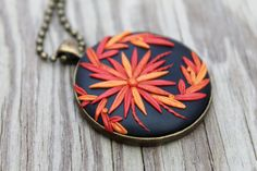Copper and rust bloom pendant FREE SHIPPING by JitterbugStudio, $48.00