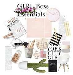 """GIRL BOSS DESK"" by mylifeask on Polyvore featuring interior, interiors, interior design, maison, home decor, interior decorating, Sugar Paper, Kate Spade, kikki.K et ESSEY"
