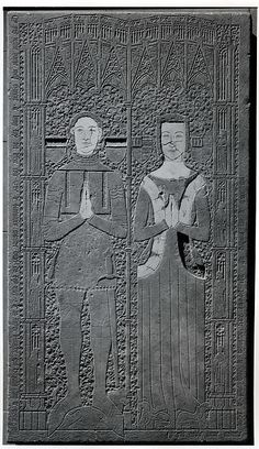 Tomb Slab Date: 14th century Geography: Made in Normandy Culture: French Medium: Limestone, inlaid with marble Dimensions: Overall: 90 x 50 1/2 x 4 1/2 in. (228.6 x 128.3 x 11.4 cm) Classification: Sculpture-Stone Credit Line: The Cloisters Collection, 1925 Accession Number: 25.120.202