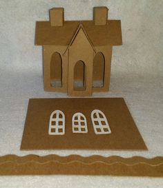 Vintage House DIY Putz Style Cardobard by littlevillagehouses