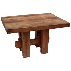 Heavy Hewn Studio Furniture Oak Table | From a unique collection of antique and modern farm tables at https://www.1stdibs.com/furniture/tables/farm-tables/