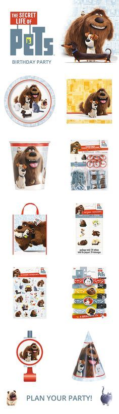 Plan your birthday and let us help with these low priced Secret Life of Pets party supplies that include tableware, decorations, favors, stickers, temporary tattoos, balloons, and much more. Visit our Secret Life of Pets page today: http://www.discountpartysupplies.com/boy-party-supplies/secret-life-of-pets-party-supplies?utm_source=Pinterest&utm_medium=Social&utm_content=Secret_Life_of_Pets_Product_Board&utm_campaign=The_Secret_Life_of_Pets_Promoted_Pin