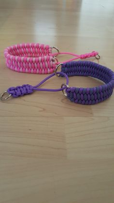 Dog collar martingale. Paracord, pattern tribolite.