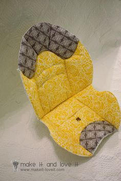 Recovering a Baby Car Seat | Make It and Love It sep by step instructions