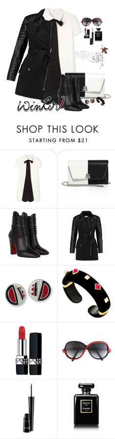 """""""Film Festival: Sundance Style"""" by flippintickledinc ❤ liked on Polyvore featuring Akris, Christian Louboutin, W118 by Walter Baker, Kenneth Jay Lane, Christian Dior, Oliver Goldsmith, MAC Cosmetics, Chanel and sundance"""