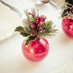 An elegant Christmas centerpiece that makes pendant with tree. With tutorial. (in Italian)