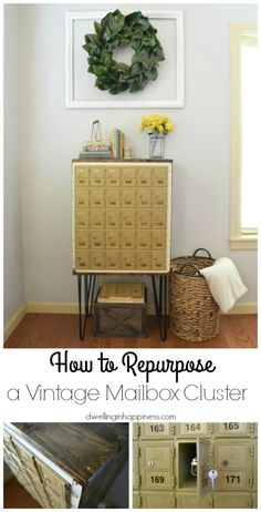 How to Repurpose a Vintage Mailbox Cluster