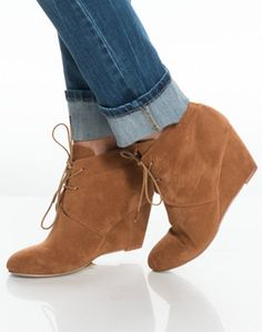 suede lace-up booties | fall fashion 2016
