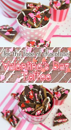 Homemade Valentine's Day Toffee from @Courtney Baker Baker Whitmore {Pizzazzerie.com}!