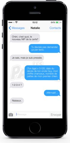 Example of the Québécois French word NIAISEUX used in a text message (#877) | OffQc | Quebec French Guide