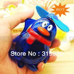First shop Electric fan water  Cartoon penguin animal  cute pattern Blue Red Green Color   Free shipping 1pcs/lot  on AliExpress.com