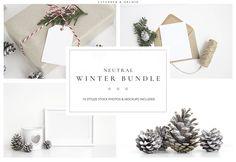 Neutral Winter bundle - Product Mockups