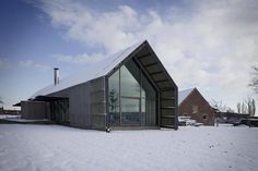 wood barn with snow, Buro II/Buro Interiors, Rita Huys, Anne-Mie Vermaut