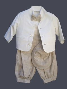 DapperLads - 6 - Piece Ivory Tan Eton Jacket Knicker Set - Boys Knicker Sets - knicker sets, argyle and solid knee socks, vintage theme outfits, old fashioned look outfits, boys golf clothes, Victorian theme boys clothes, vintage style boys clothes