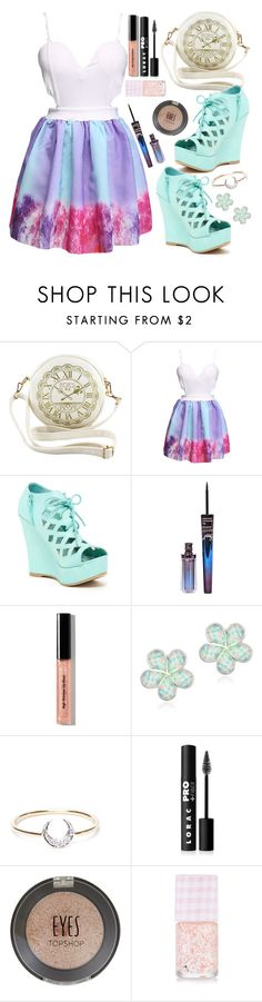 """Girly date night"" by crazydirectionergirl ❤ liked on Polyvore featuring Top Guy, Bobbi Brown Cosmetics, Glitzy Rocks, I+I, LORAC and Topshop"