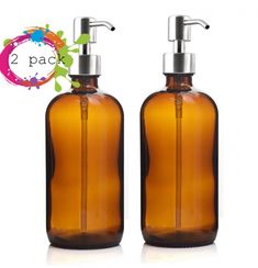 16 Oz Large Liquid Soap Dispenser Amber Glass Pump Bottle with Stainless Steel Lotion Pump for homemade lotions detergent Aromatherapy Essential oil wellness handmade Glass Roller Bottles, Amber Glass Bottles, Glass Dispenser, Soap Dispenser, Soap Packing, Essential Oils For Headaches, Ambre, Hand Lotion, Bucket Lists