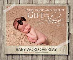 Word Overlay  Baby Newborn Phrase Photo by StudioTwentyNine, $2.50
