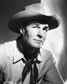 ~ Randolph Scott ~ He did over 60 movies and most were westerns.Second to John Wayne in my book and then maybe equal to. Hollywood Stars, Classic Hollywood, Old Hollywood, Hollywood Glamour, Movie Blog, Movie Tv, Randolph Scott, Tv Westerns, Jesse James