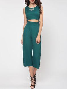 Plain Bowknot Modern Jumpsuits #Bottoms, #Fashion, #Jumpsuits, #Womens