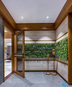 Foyer Design, Lobby Design, Facade Design, Wall Design, House Design, Main Entrance Door Design, Home Entrance Decor, House Entrance, Lobby Interior