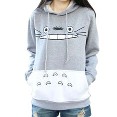 Raisevern hot 3D épais sweat harajuku totoro cartoon imprimé animal femmes  costume de Sport à capuche 0e32ef2454e