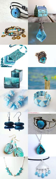 Turquoise-Blue II from Jelena DizArtEx on Etsy--Pinned with TreasuryPin.com #turquoise #blue #decor #jewelry #gifts