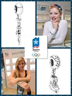 We now have a figure skater charm and an ice skate charm! Represent your sport like Gracie Gold and Ashley Wagner U.S. figure skating champions. Go for the gold!