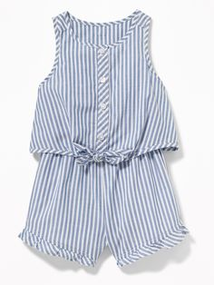 Patterned 2-in-1 Ruffled Romper for Baby|old-navy