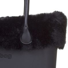 Mink Faux Fur Trim - Black - O Bag Accessory. A finishing touch for the standard O bags. Fixes inside to the ends of the handles. NOTE: Not real fur.
