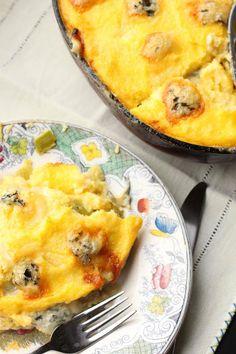 polenta et poireaux au four