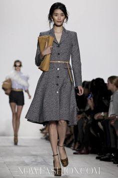 Putting this one on both the 'coats' and 'dresses' boards, it was worn by Kate for ANZAC Day services Canberra, Australia April 25, 2014   Michael Kors Ready To Wear Spring Summer 2014 New York - NOWFASHION